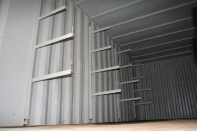 Size 8R – Racks – 20 ' Shipping Container with racking arms